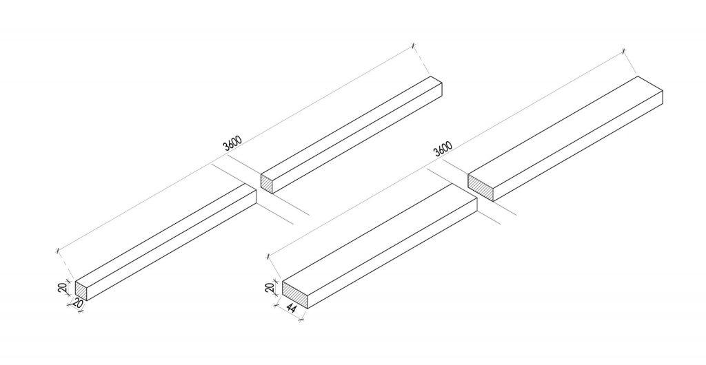 Wooden Strip 1-1